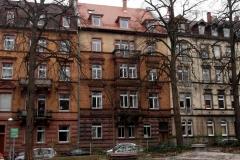 25   Kulturdenkmal Sonntagstr.2, Karlsruhe, Ansicht Straße (nach der Dachsanierung), LP 6-8