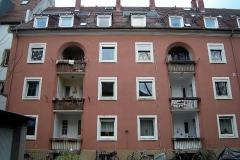 03   Kulturdenkmal Blücherstr. 22, Karlsruhe, Bestand Hofseite (vor Dachsanierung), LP 6-8
