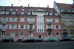 01   Kulturdenkmal Blücherstr. 22, Karlsruhe, Bestand Straßenseite (vor Dachsanierung), LP 6-8