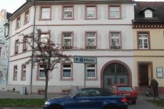 13 | Kulturdenkmal MFH Karlsburgstr. 8, Karlsruhe, Straßenansicht (vor Sanierung)