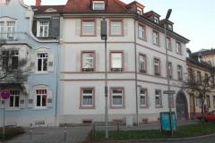 15 | Kulturdenkmal MFH Karlsburgstr. 8, Karlsruhe, Straßenansicht (vor Sanierung)